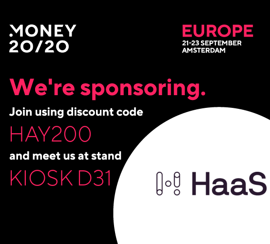 HaaS to be an official sponsor of Money 20/20 Europe in Amsterdam 21-23 September 2021